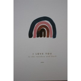 Carte Rainbow - All The way To Say - leli concept store