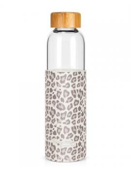 Bouteille 550 ml en verre & silicone LEOPARD - Label Tour