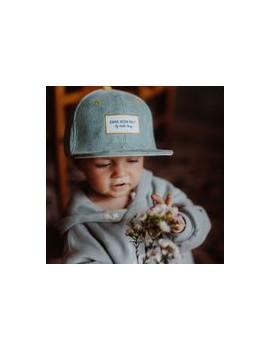 Casquette Enfant Baby Blue casquette Velours - Hello Hossy