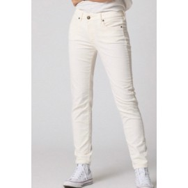 Pantalon Colette Velours Blanc - FIVE