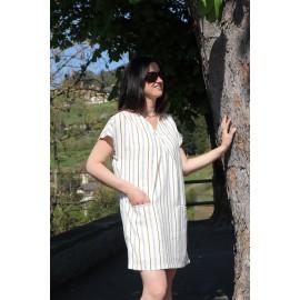 Robe courte imprimé ligné Muffin - ORFEO - The LELI