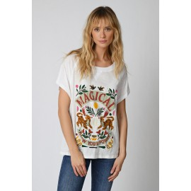 Tee-Shirt Magical Blanc - Five Jeans - leli concept store
