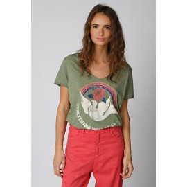 Tee-Shirt Colombe - Five Jeans - leli concept store
