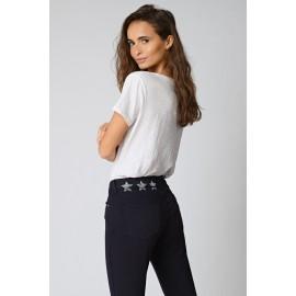 Jean Colette marine - Five jeans - leli concept store
