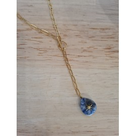 Collier Néa bleu - leli concept store