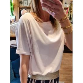 Tee-shirt Tinoa rose- leli concept store
