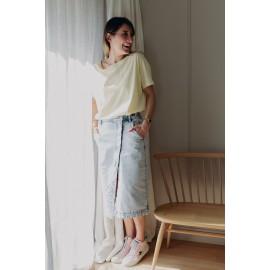 Tee-shirt Tinoa jaune - School rag - leli concept store