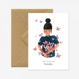 Carte La fille aux papillons - All The Ways To Say - leli concept store