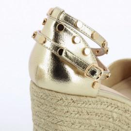 Sandales compensées SD 2257 or - vanessa wu - leli concept store