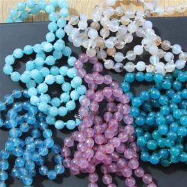 Collier sautoir perles bleues Marie - Bijoux femmes - The LELI