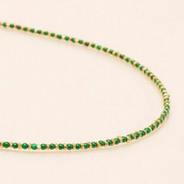 Collier Jaïpur Malachite - Une à une - leli concept store