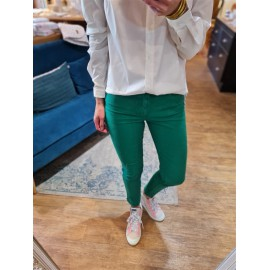 Jean Colette vert - Five jeans -leli concept store