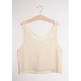 Top pyjama dentelle blanc OIA - Icône - leli concept store