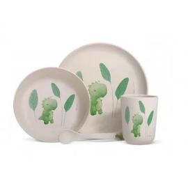 Coffret vaisselle bambou Dinosaure - Label Tour