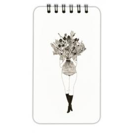 Bloc-note pages lignés bouquet - helen b