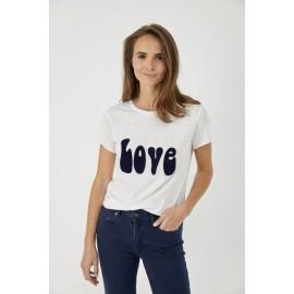 Tee shirt Love blanc - Five