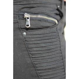 Skinny noir Antoine zip chevilles- The LELI